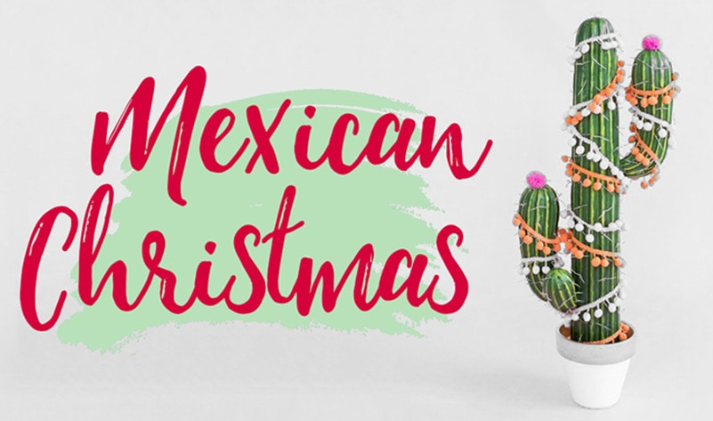 Chrsitmas mexican poncho party